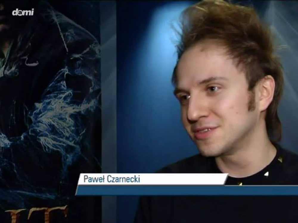 Kadr z wywiadu dla regionalnej telewizji Dami