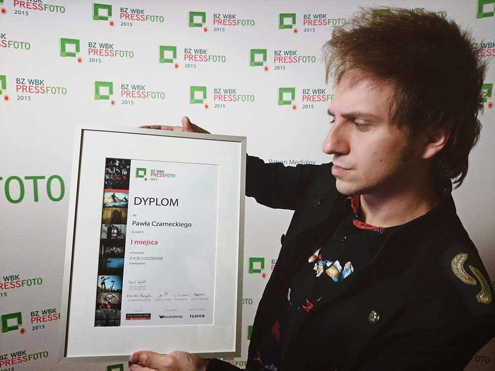 Dyplom za zajęcie I miejsca w konkursie fotograficznym WBK Press Photo